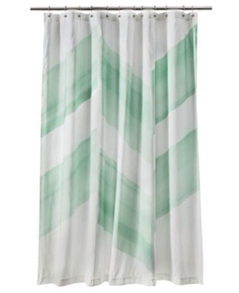 Mint Green Curtains Nate Berkus Color Block Mint Green Shower Curtain New