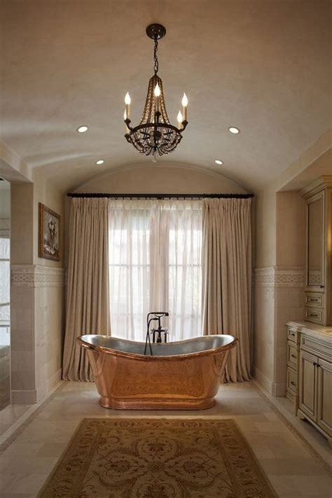 17 gold bathroom designs with copper bathtub