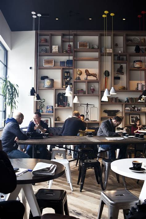 Book Shelf Cafe by Modern Cafe Interior Design Ideas From All Around The
