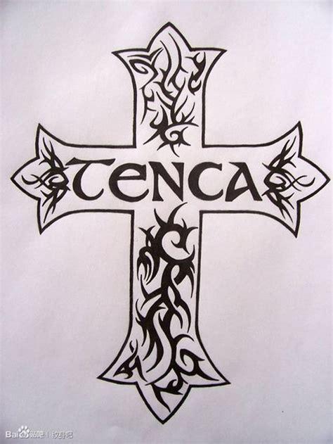 时尚很酷的图腾十字架纹身图案