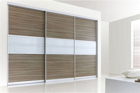 Make Your Own Fitted Wardrobes by Edge Satin Silver Frame With Driftwood White Glass