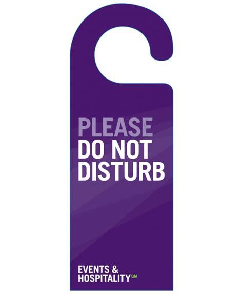 Do Not Disturb Door Hanger by Purple Do Not Disturb Door Hanger