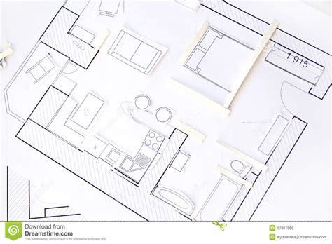 interior design apartments top view paper model royalty