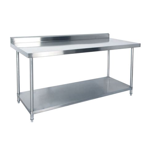 steel bench kss stainless steel bench with splashback 1800mm