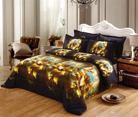 Wolf Comforter Set by Jessy Home 3d Wolf Bedding Set Bedspread Comforter Bedding