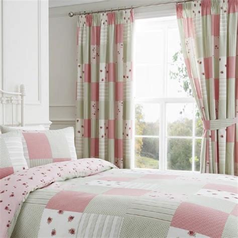 Pink Patchwork Curtains - patchwork curtains pink tonys textiles