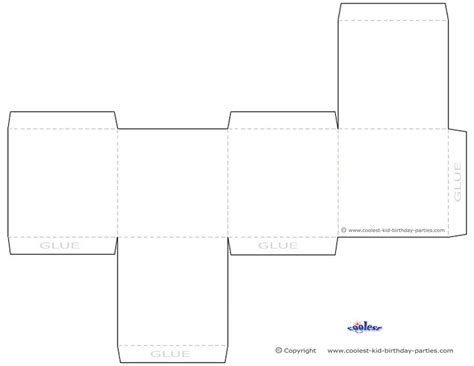 printable box template blank printable favor box templates pinterest favor