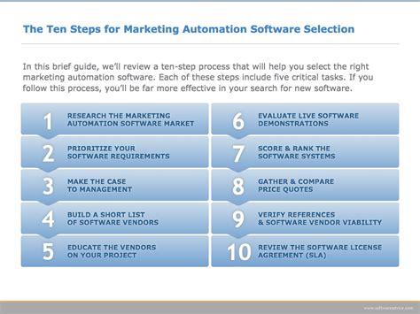 ten steps to selecting marketing automation software