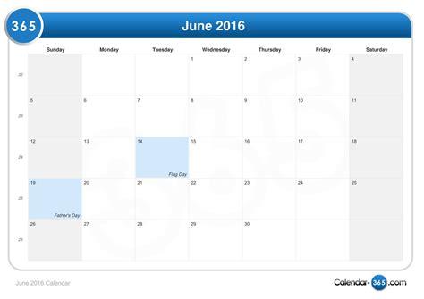Calendar For June 2016 June 2016 Calendar