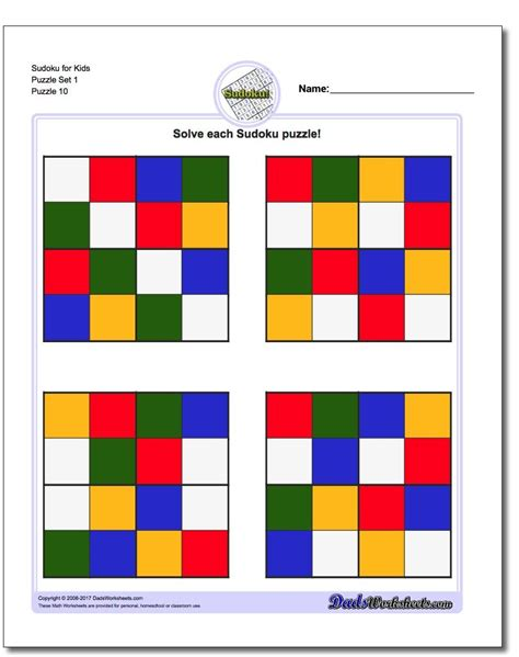 color sudoku these printable color sudoku puzzles for