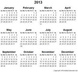 2013 Calendar Printable 2013 Free Printable Calendars Printable Calendar