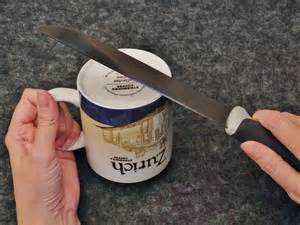how to sharpen knives and scissors with a mug cuppanatter