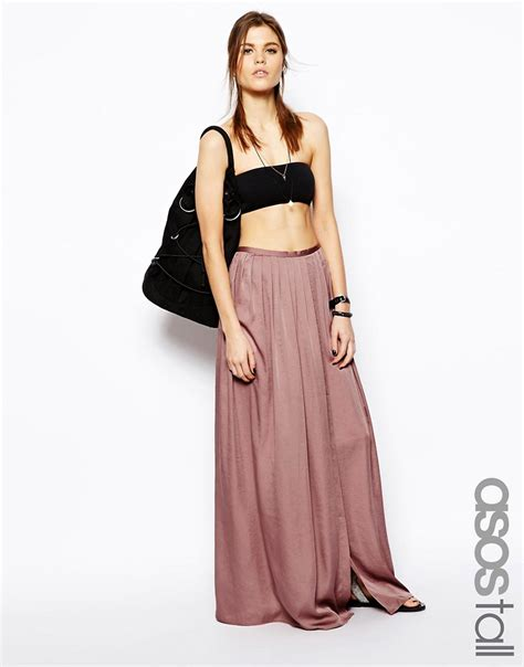 asos asos soft split maxi skirt at asos