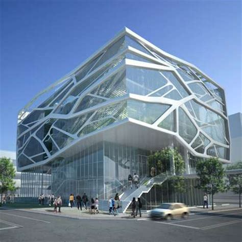 the best architecture public library design innovation cracked glassitecture the south korea gimpo art hall by