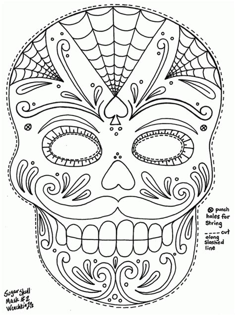 Dia De Los Muertos Free Coloring Pages