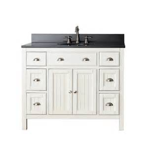 Home gt 42 inch single sink bathroom vanity in french white