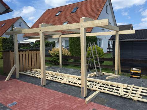 carport aufbau carport aufbauen mollys blockhausprojekt