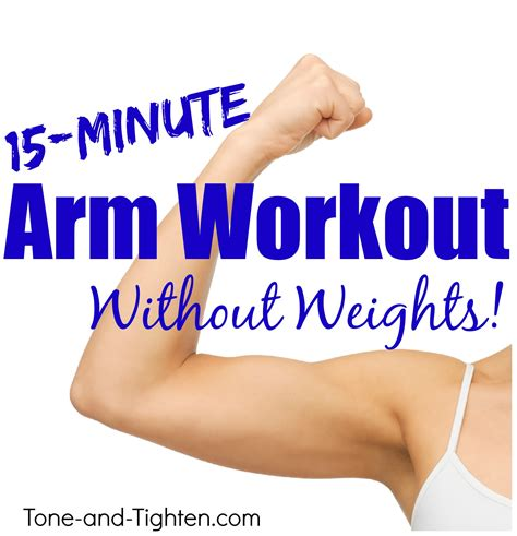 killer home arm workout without weights tone and tighten