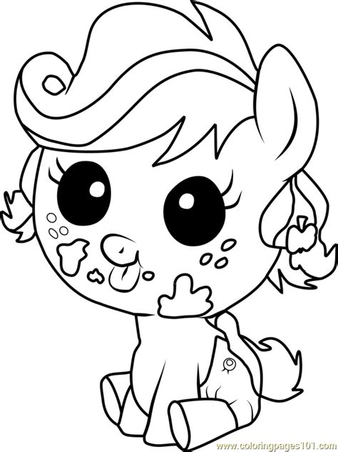 my little pony coloring pages applejack baby applejack infant coloring page free my little pony
