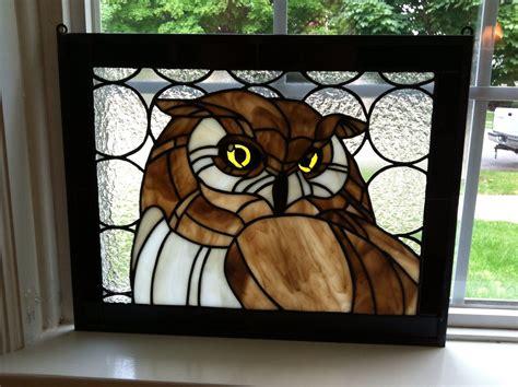 stained glass owl l stained glass owl stained glass vitraux