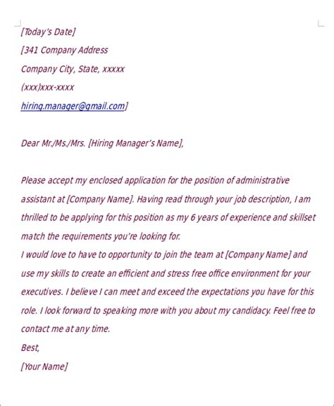 Tips For Writing A Good Cover Letter Short Application