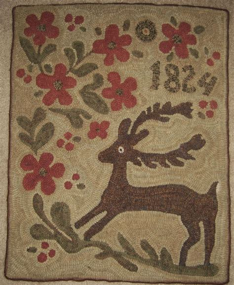 hooked rug patterns 457 best early hooked rugs images on