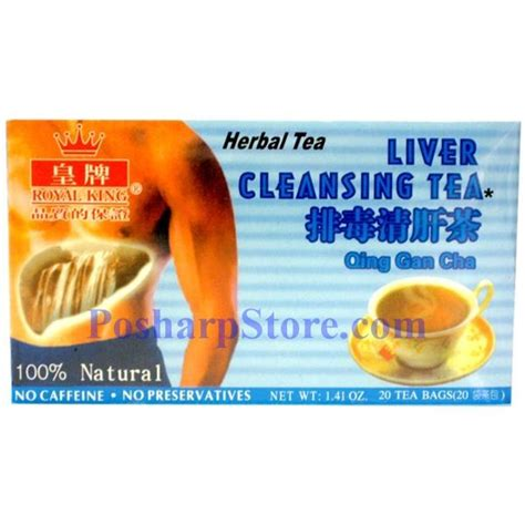 Liver Detox Tea Tevana by Royal King Liver Cleansing Herbal Tea 20 Teabags