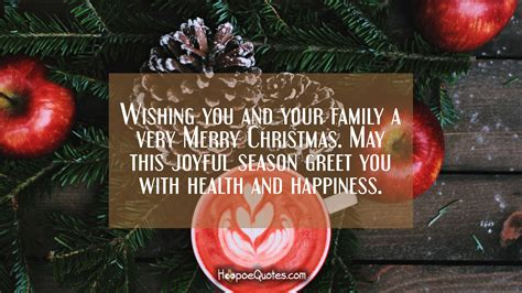 wishing    family   merry christmas   joyful season greet   health