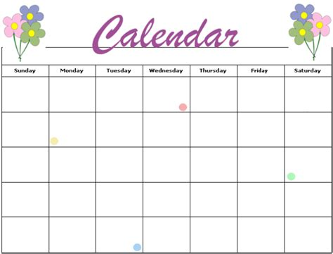 free downloadable calendar template free printable blank calendar template pdf word calendar