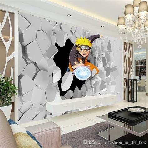 cartoon wall painting in bedroom japanese anime wall mural 3d naruto photo wallpaper boys