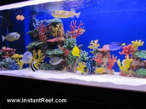Tumbuhan Coral Artifisial Dekorasi Aquarium 8 foot artificial coral reef tank with salt water fish