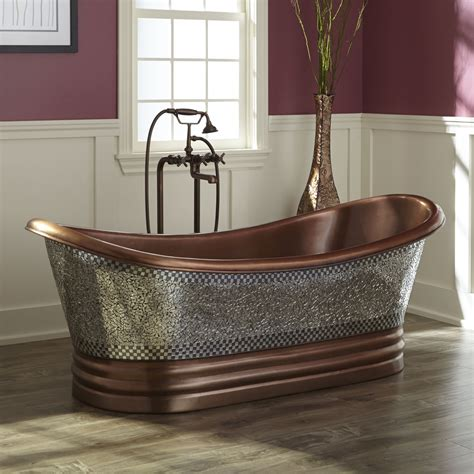double slipper bathtub 48 quot abbey copper double slipper clawfoot soaking tub