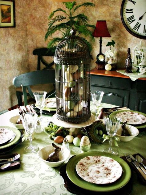 beautiful table settings green and brown 15 easter table setting ideas to try entertaining ideas