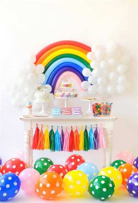 theme decorations the rainbow birthday for project nursery