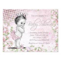 adorable vintage pink baby shower invites zazzle