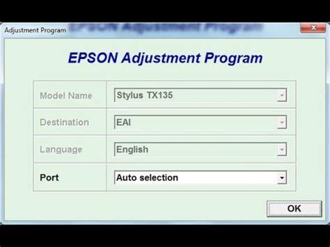 reset epson tx135 reset epson tx135 youtube