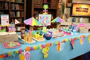 Summer Party Decorations by Summer Party Ideas A To Zebra Celebrations
