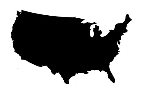 america map black image usa map black png paul grassroots