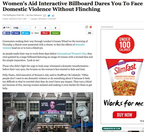 domestic violence billboard dares people not to look away how women s aid used digital ooh ads to make 327m people