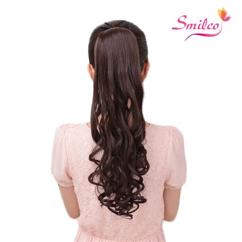 realistic drwa string pony tail hair smilco hair ponytail purple ombre extensions hair