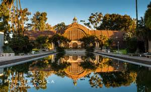 San Diego Botanical Gardens Balboa Park Botanical Building And Pond Reflection Balboa Park San Diego History
