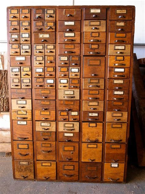 Hardware Storage Cabinet Card Catalog Hardware Cabinet