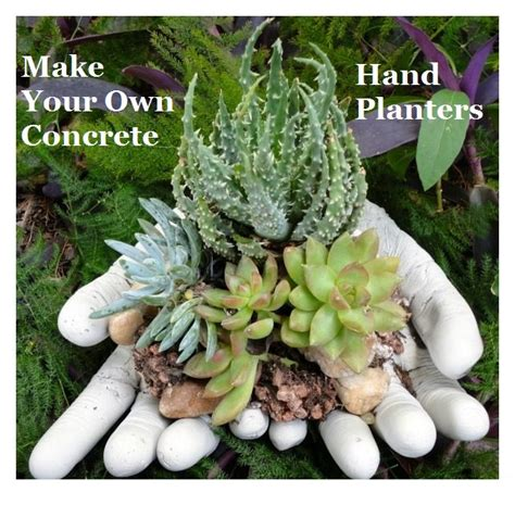make your own concrete planters the prepared page