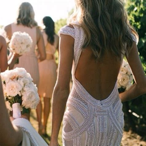 beaded backless wedding dress dress wedding dress backless dress pretty white