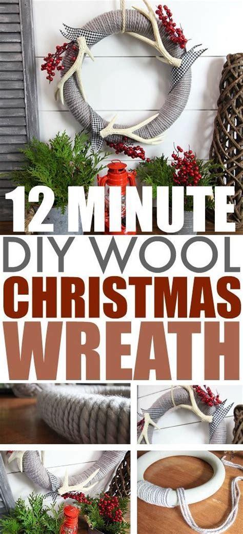 diy wool christmas wreath   fun simple