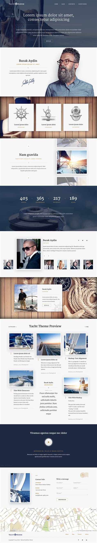 web layout behance yacht marine wordpress theme on behance