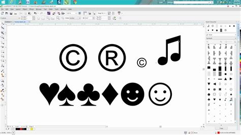 corel draw x6 tips and tricks corel draw tips tricks finding and insert symbols in