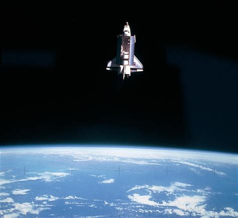 space shuttle challenger space shuttle challenger during mission sts 7 photograph
