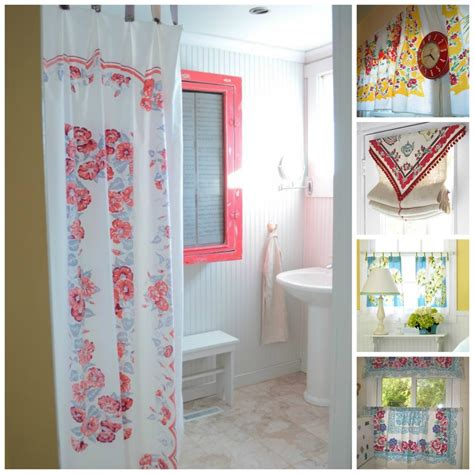 tablecloth curtains vintage tablecloth love simply fresh vintage