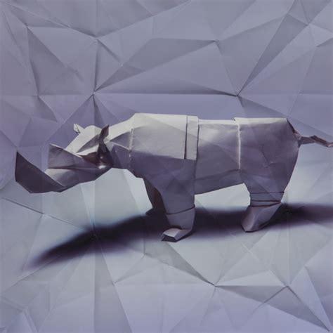 Rhinoceros Origami - marc fichou s origami animals